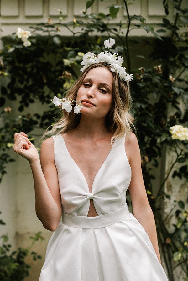 robe de mariee audrey face fleur